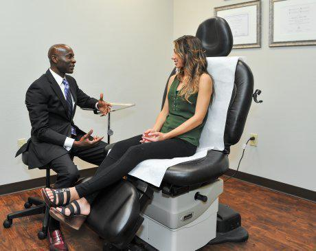 Consulting a Patient at Noble Cosmetic Surgery